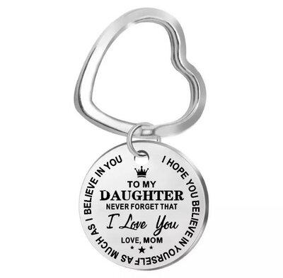 RVS Sleutelhanger Daughter