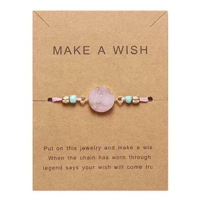 stone armband roze