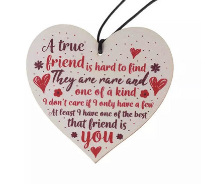 Houten Decoratie Hart A True Friend