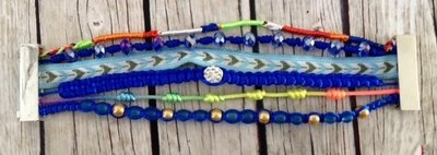 Ibiza armband blauw strass