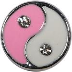 Roze witte yin yang mini petite chunk 12mm