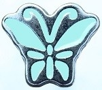 Mint groene mini petite vlinder click 12mm