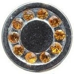 Bruin-strass mini petite click 12mm