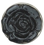Zwarte roos mini petite click 12mm
