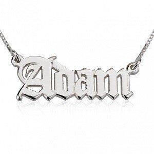 Naamketting sterling zilver 925 'engelse stijl'