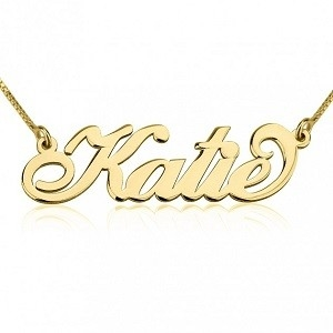 Naamketting 14K goud 'Carrie style'