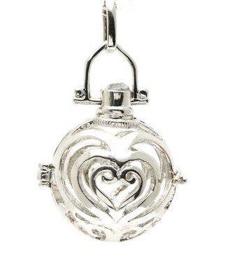 Engelfluisteraar sierlijk met hart 16,5cm