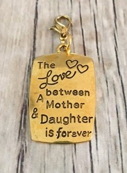 Memory lockets bead dangle the love between a mother and a daughter is forever goudkleurig
