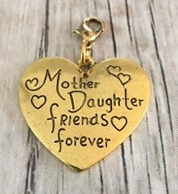 Memory lockets bead dangle mother daughter friends forever goudkleurig