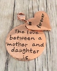 Memory lockets bead dangle love between a mother rosekleurig