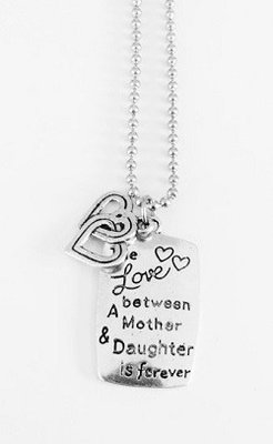 Bedel met RVS ketting (80cm) the love between a mother and a daughter is forever
