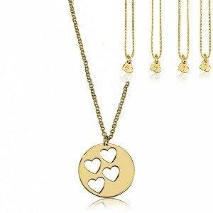 4 letters - Moeder-kind kettingen 24K verguld goud