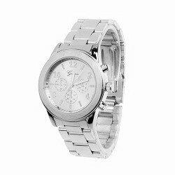 Geneva RVS horloge zilver (kleurig)