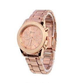 Geneva RVS horloge rosé-goud (kleurig)