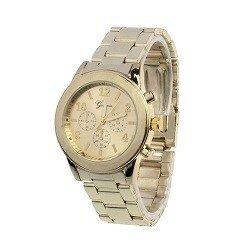 Geneva RVS horloge goud (kleurig)