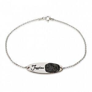 Vingerafdruk armband met naam sterling zilver 925