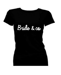 T-shirt dames korte mouw bedrukt: Bride & co