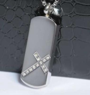 RVS ashanger met strass kruis