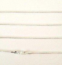 41cm fijne zilverkleurige ketting
