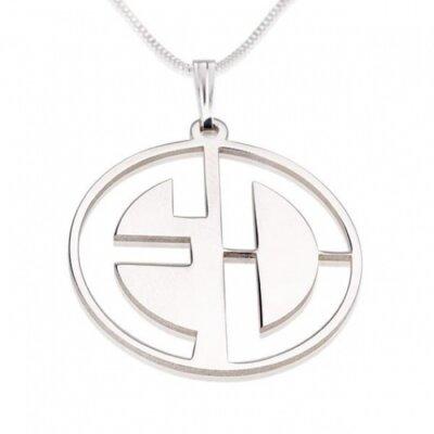 Naamketting vader - 2 letter monogram sterling zilver 925