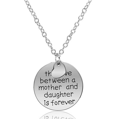 Bedelketting met tekst Love between Mother daughter