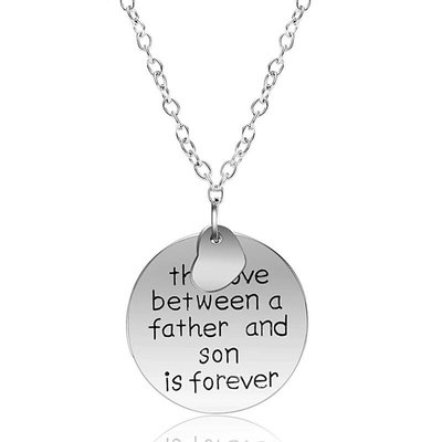 Bedelketting met tekst Love between Father son