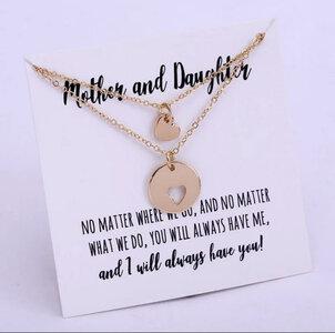 Set met 2 Kettingen Mother en Daughter