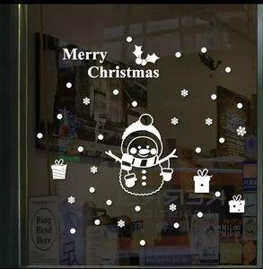 kerst sticker sneeuwpop